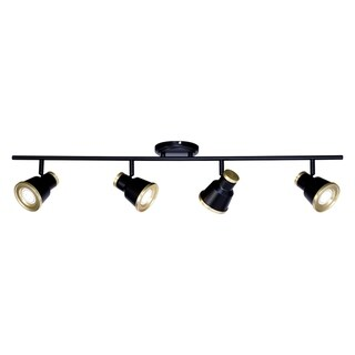 Fairhaven 4 Light LED Black Urban Loft Adjustable Ceiling Spot Light - 36-in W x 8-in H x 5-in D