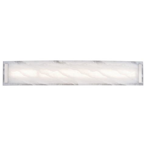 Fina 32 in. LED Nickel Bath Bar Bathroom Vanity Light - 32-in. W x 5.5-in. H x 2.75-in. D