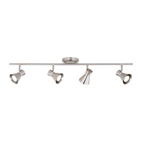 Alto 4 Light LED Brushed Nickel Adjustable Ceiling Spot Light - 36-in W x 8-in H x 5-in D