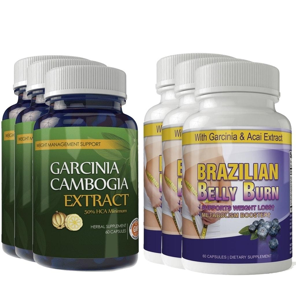 Shop Garcinia Cambogia And Brazilian Belly Burn Combo Pack Free