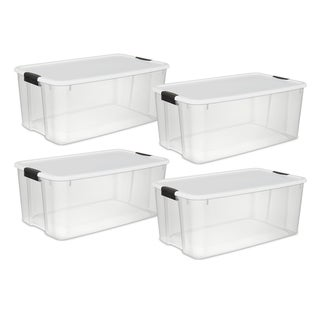 Link to Case of 4 Sterilite 116 Quart Ultra Latch Boxes - 116 Quart Similar Items in Storage & Organization