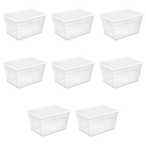 Case of 8 Clear 56 Quart Storage Bins. Click link below for more options from Sterilite