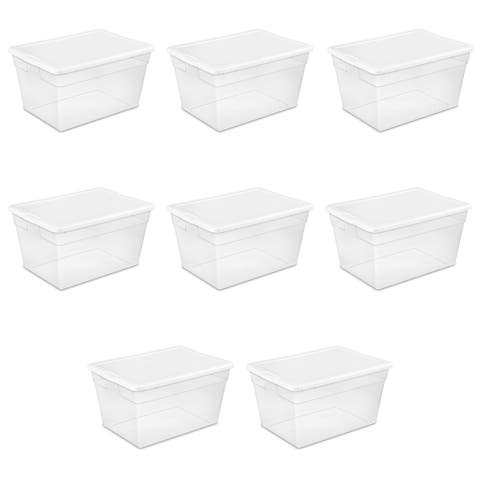 Sterilite Storage Bins 56 Quart Clear - Case of 8