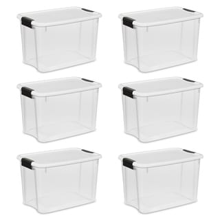 Case of 6 Sterilite 30 Quart Ultra Latch Boxes
