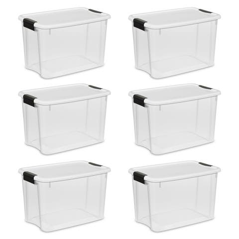 Case of 6 Sterilite 30 Quart Ultra Latch Boxes