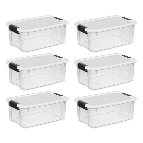 STERILITE 18 Quart Ultra Latch Boxes, Clear - Case of 6