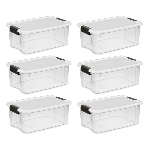 STERILITE 18 Quart Ultra Latch Boxes, Clear - Case of 6. Opens flyout.