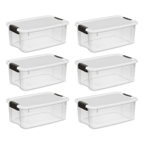 Case of 6 Sterilite 18 Quart Ultra Latch Boxes