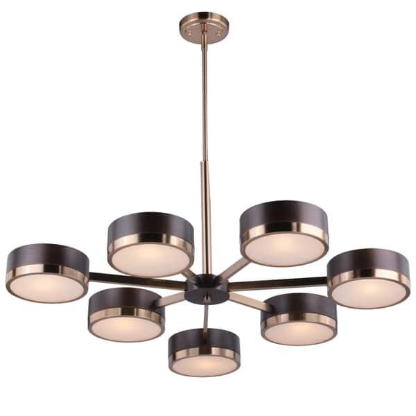 Madison 7 Light Bronze Mid Century Modern Chandelier 35 5 In W X 20 25 In H X 34 75 In D Overstock 28387052