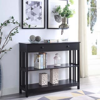 Porch & Den Miro Mission 1 Drawer Console Table