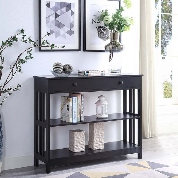Porch & Den Miro Mission 1 Drawer Console Table. Opens flyout.