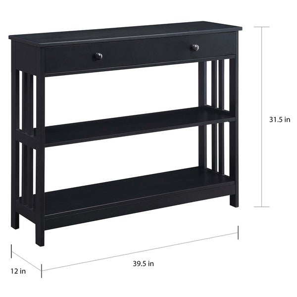 Porch & Den Miro Mission 1-drawer Console Table
