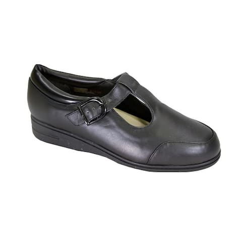 24 HOUR COMFORT Aileen Wide Width Comfort Leather Slip On Shoes