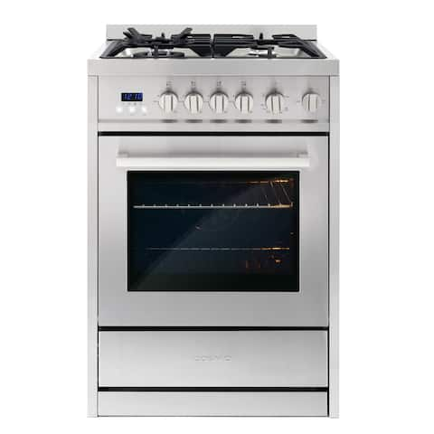 24 in. 2.73 cu. ft. Single Oven Gas Range with 4 Burner Cooktop