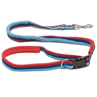 FurHaven Easy-Tether Reflective Bungee Dog Leash (Classic Stripe)