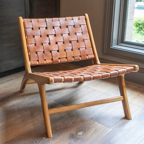 Roy Leather Strap Chair