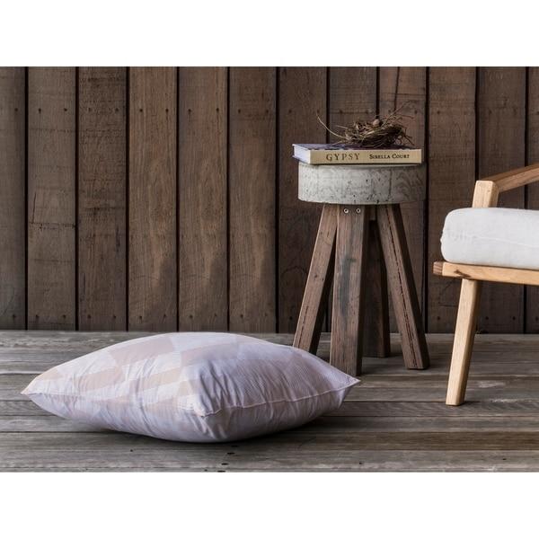 BLOCK PRINT CHECK BOARD IN TAN Floor Pillow By Kavka Designs