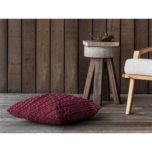 BERBER STRIPE WINE Floor Pillow By Kavka Designs