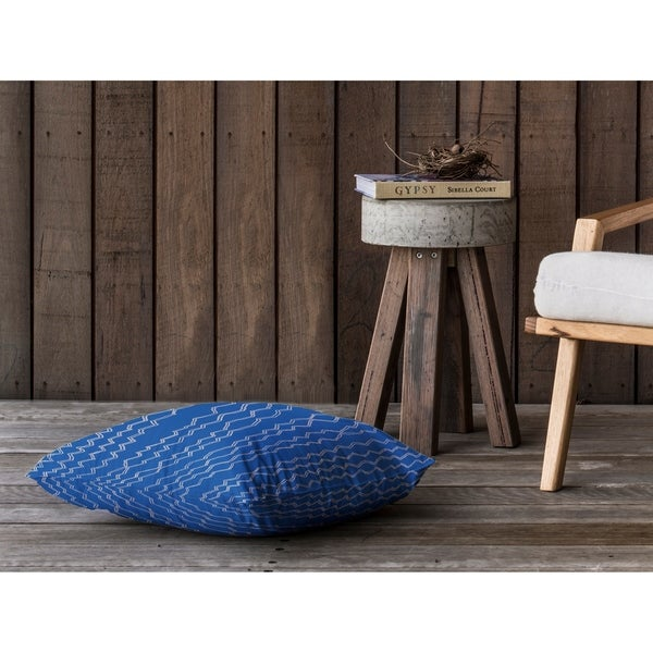 BERBER STRIPE COBALT Floor Pillow By Kavka Designs