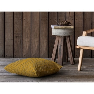 BERBER STRIPE MUSTARD GREY Floor Pillow By Kavka Designs