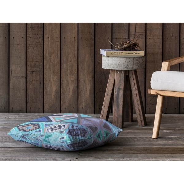 AZTEC TRIBAL MINT Floor Pillow By Kavka Designs