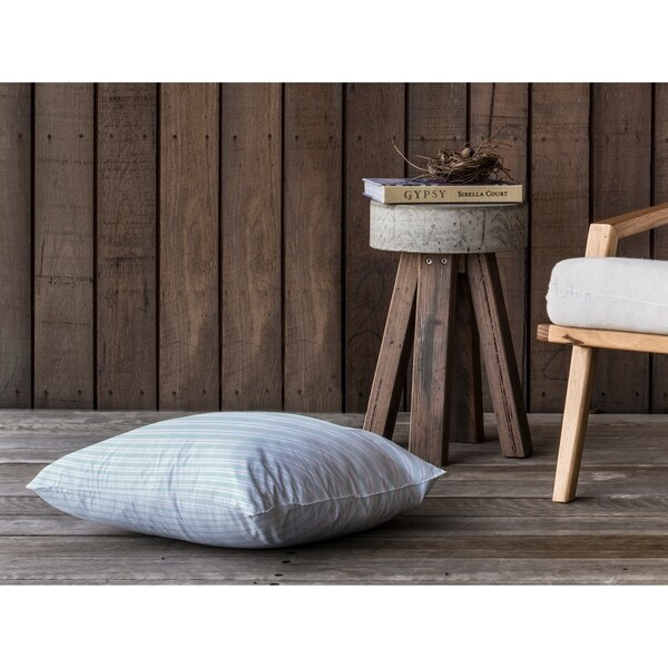 CLASSIC STRIPE MINT Floor Pillow By Kavka Designs