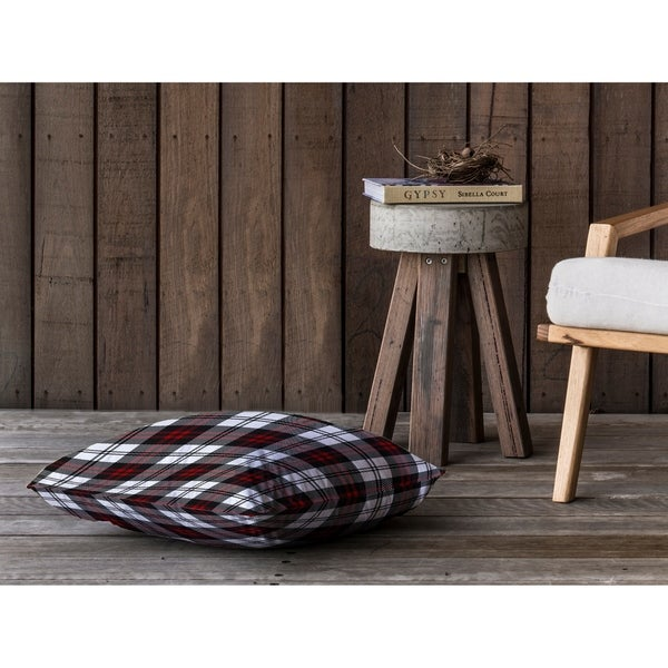 COZY PLAID Floor Pillow By Kavka Designs