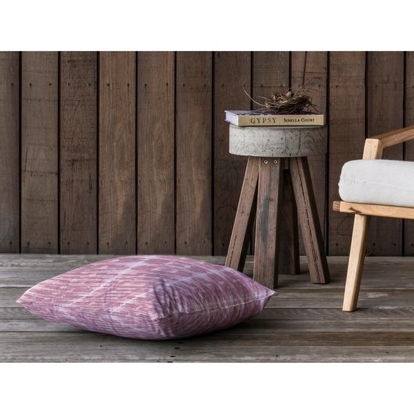 XRAY SHIBORI FUSCHIA Floor Pillow By Kavka Designs