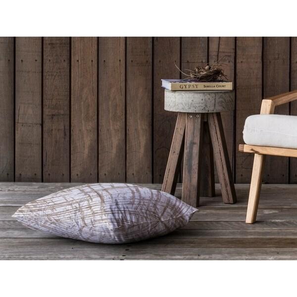 WATERCOLOR CRISS CROSS BEIGE Floor Pillow By Kavka Designs