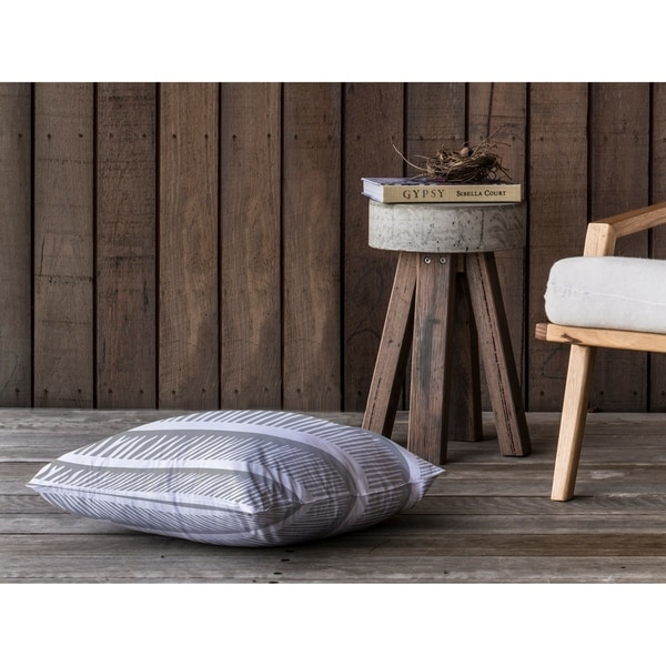 BLADES OF GRASS GREY Floor Pillow By Kavka Designs