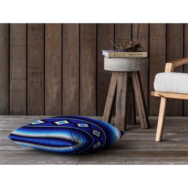 MODERN SERAPE BLUE Floor Pillow By Kavka Designs