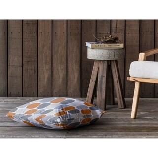 MID CENTURY OVALS ORANGE Floor Pillow By Kavka Designs