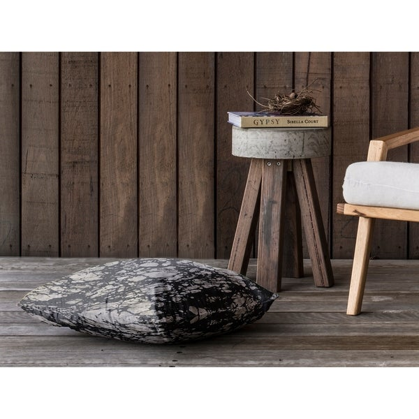 MARBLE BLACK SMALL Floor Pillow By Kavka Designs