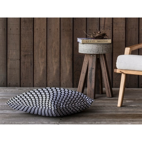 SIMPLE CIRCLES B+W Floor Pillow By Kavka Designs
