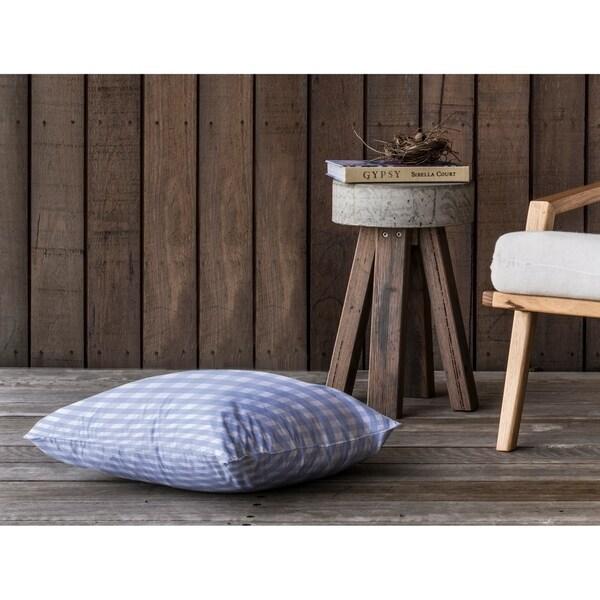SERENE GINGHAM DREAM Floor Pillow By Kavka Designs