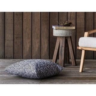 DYNASTY BLACK Floor Pillow By Kavka Designs