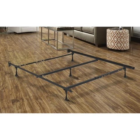 Heavy Duty Adjustable Metal Bed Frame with Center Rail Support