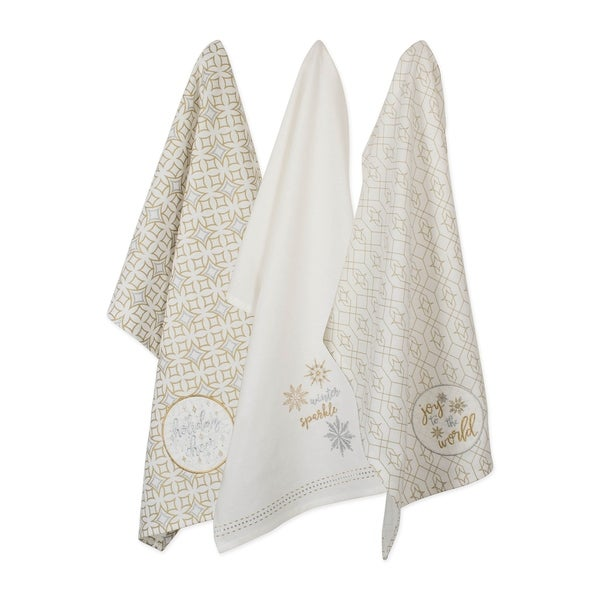 DII Assorted Winter Sparkle Dishtowel (Set of 3)