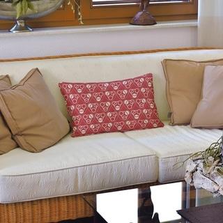 Classic Circles & Waves Lumbar Pillow