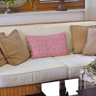 Monochrome Circles & Waves Lumbar Pillow