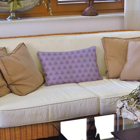 The Curated Nomad Saginaw Pastel Monochrome Minimalist Trees Lumbar Pillow