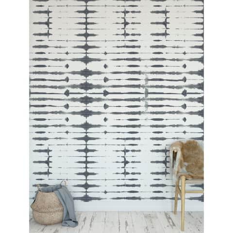 THIN SHIBORI ASH Wallpaper By Becky Bailey - 24X48