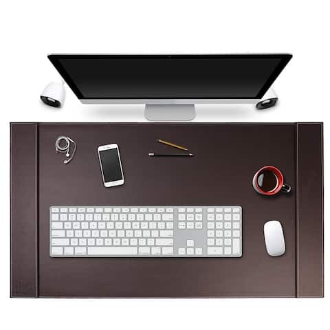 SUM Life Edge Faux Leather 34x20 Office Desk Pad