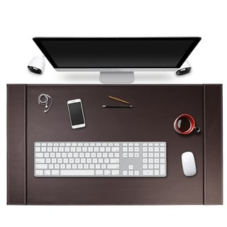 Link to SUM Life Edge Faux Leather 34x20 Office Desk Pad Similar Items in Desk Accessories