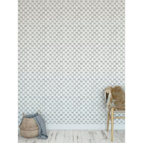 HATCHMARKS GREY Peel and Stick Wallpaper By Becky Bailey