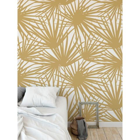PALM POM GOLD Wallpaper By Terri Ellis - 24X48