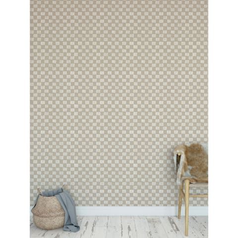 HATCHMARKS BEIGE Peel and Stick Wallpaper By Becky Bailey
