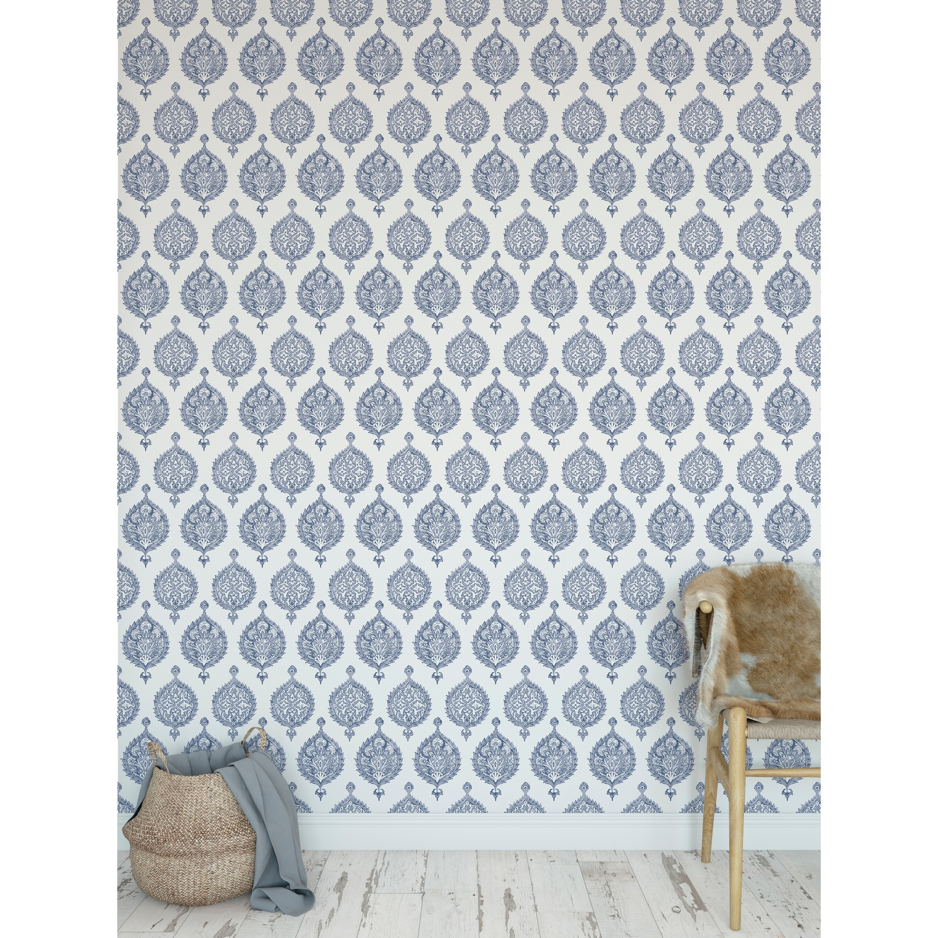 Endana Periwinkle Peel And Stick Wallpaper By Becky Bailey