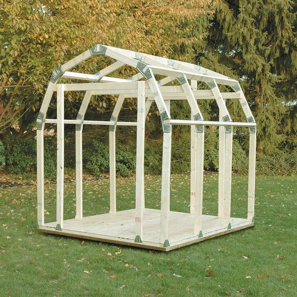 Shop 2x4basics Shed Kit With Barn Roof Free Shipping Today