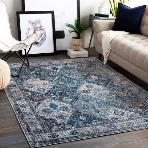 Porch & Den Prince Philip Distressed Persian Trellis Area Rug